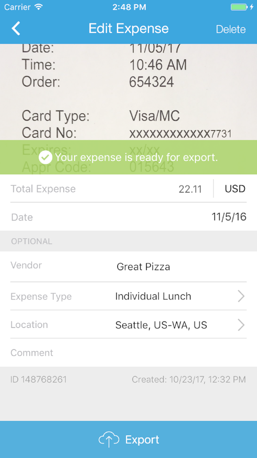 expenseit from sap concur ios travel app apps app store ipod [ 900 x 1600 Pixel ]