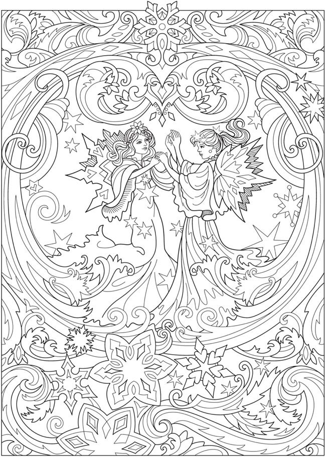 Magical Fairies Coloring Book