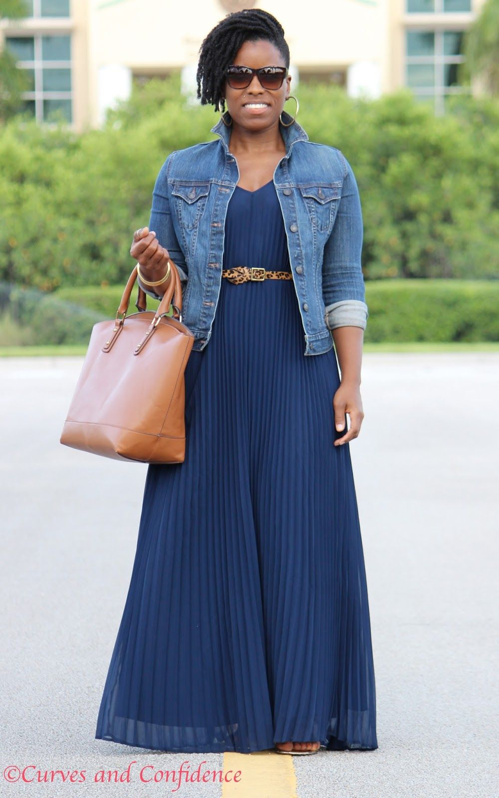 Weekend Wear: Pleated Maxi | Denim jackets, Curves and Curvy women