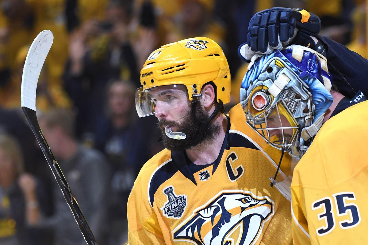 Mike Fisher Leading The Predators With Heart And Will In This Cup Final Series Cup Final Nashville Predators Hockey Predator