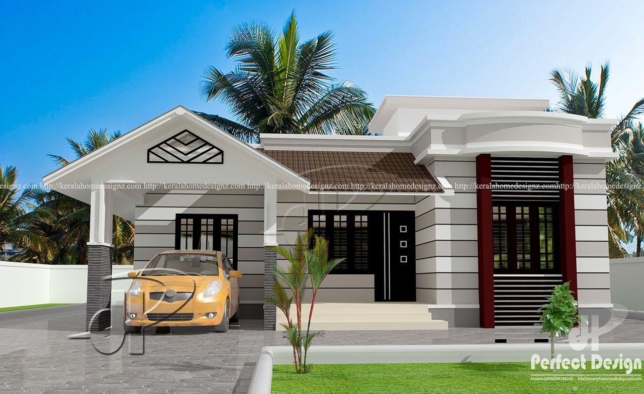 796 Sq Ft Beautiful Home Kerala Home Design House Roof Design Kerala House Design House Front Design