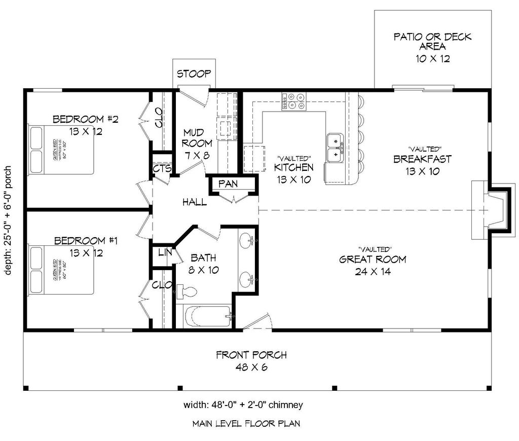 Cabin Style House Plan 2 Beds 1 Baths 1200 Sq Ft Plan 932 8 Cabin Floor Plans Ranch Style House Plans 1200 Sq Ft House
