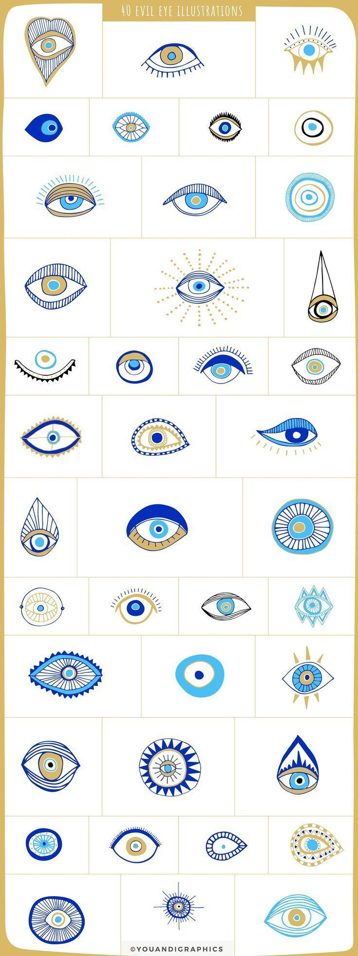 Evil Eye Illustrations  Patterns by Youandigraphics on Creative Market  Evil Eye Illustrations  Patterns by Youandigraphics on Creative Market