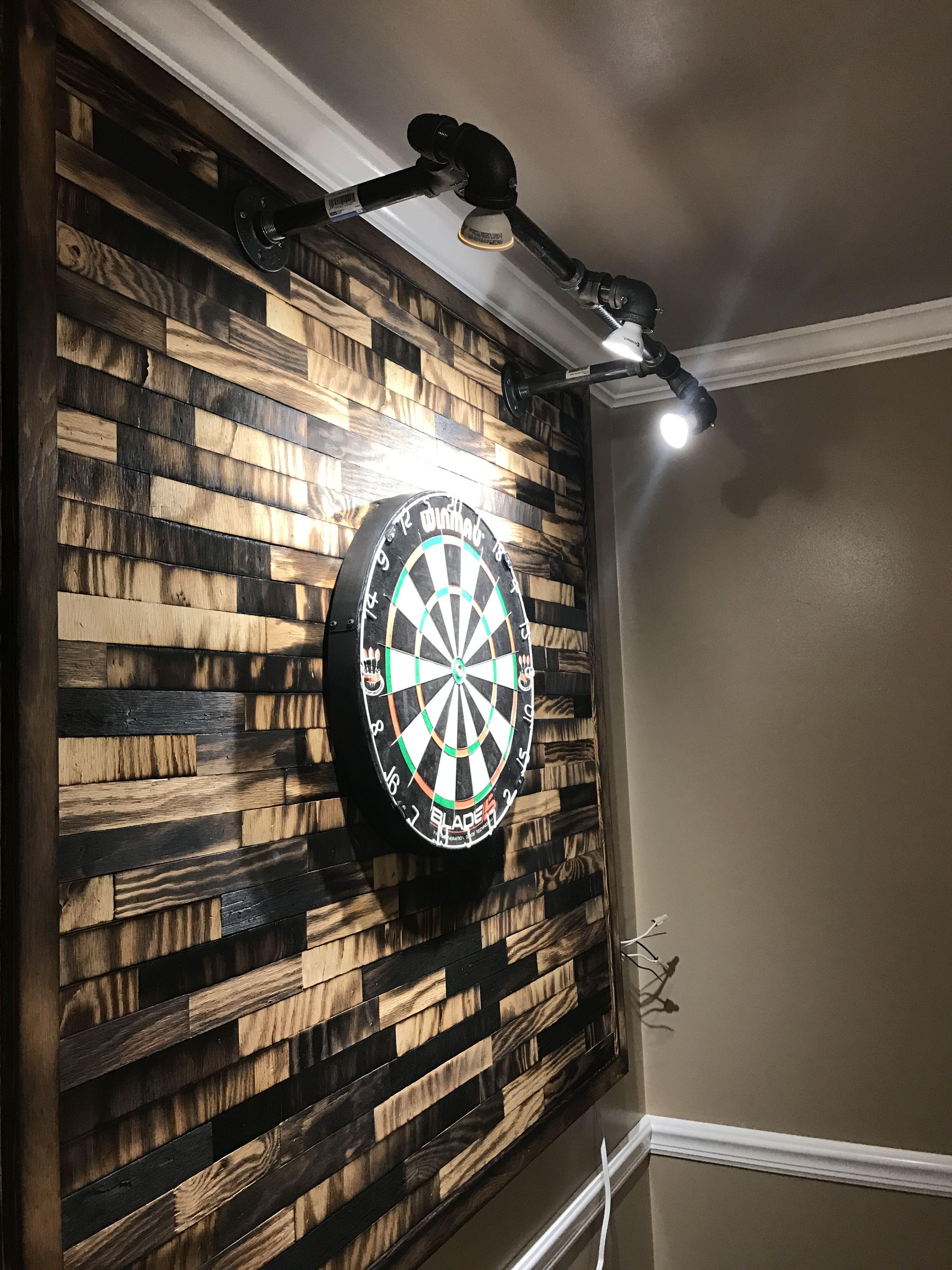 built a backer for my dart board using shou sugi ban a technique