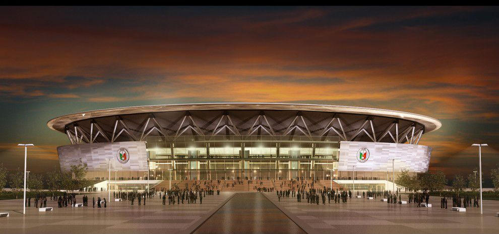Philippine Arena Populous Indoor Arena Dome Structure Philippines