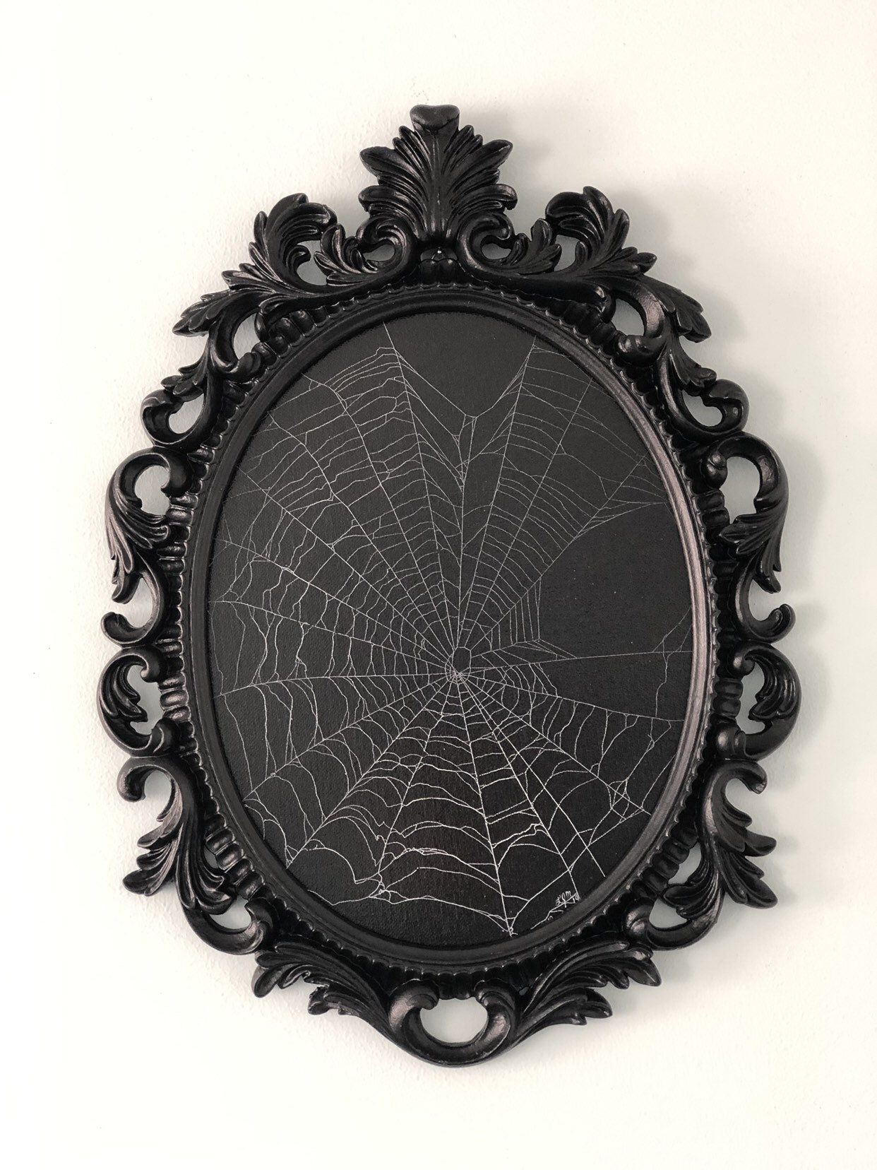 Photo of Real Spider Web, Preserved Spider Web, Framed Spider Web, Spider Web Art, Spider Taxidermy, Real Nature Decor, Gothic Home Decor
