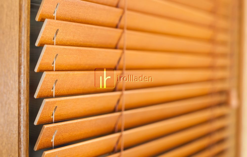 Holzjalousie Auf Mass Echt Holz Jalousie 25mm Lamellen Farbauswahl Holzjalousie Jalousien Jalousie Holz