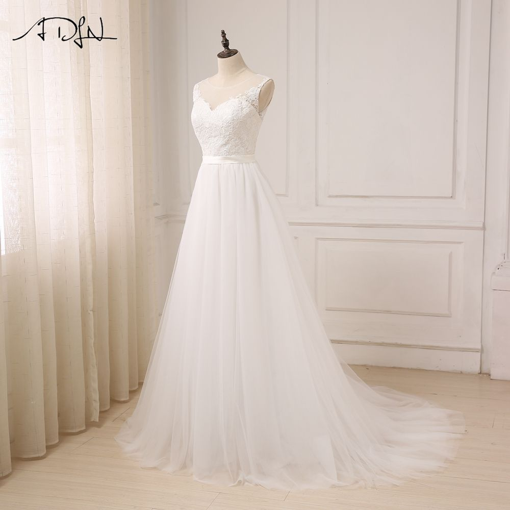 Oneck tulle boho beach wedding dress boho beach wedding dress