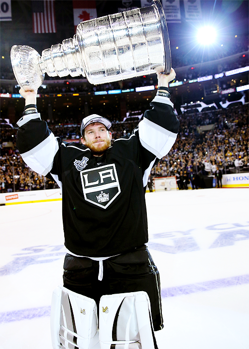 3049595a8 Jonathan Quick • Los Angeles Kings • 2014 Stanley Cup Champions ...