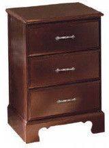 Bedside Cabinet, 3 drawer Amherst Collection, No Lock