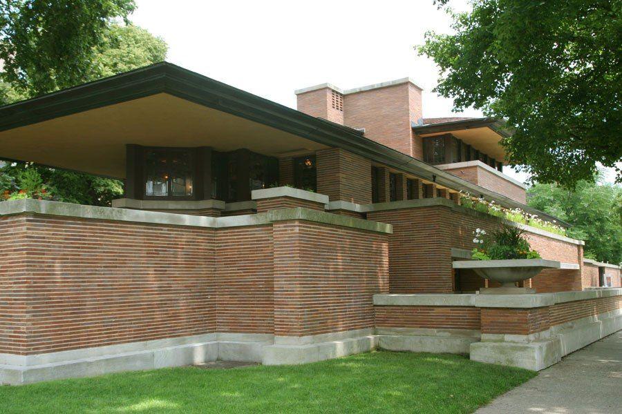 Robie House / 5757 S. Woodlawn Ave., Chicago, IL / 1908-1910 /  Prairie / Frank Lloyd Wright
