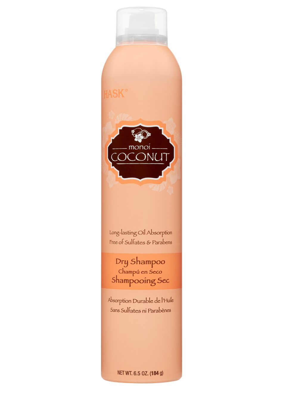 Coconut Dry Shampoo Infused with a tropical coconut scent
