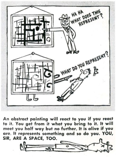 Ad Reinhardt, from 'How to Look at Art, Arts & Architecture' (1946)