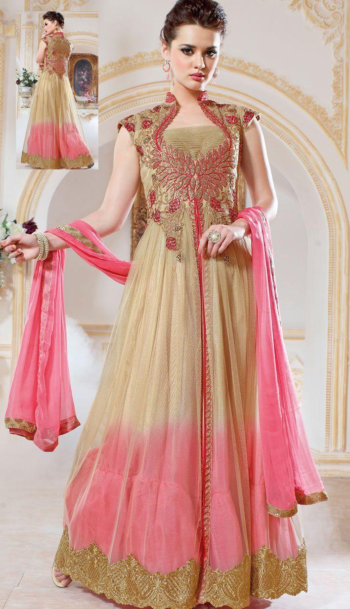 Designer salwar kameez mesmeric peach color net designer suit - Anarkali Frocks Design 2016 Gorgeous Party Wear Frocks Designs Pk Vogue Anarkalianarkali Suitssalwar Kameezchuridar