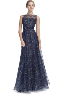 e964f21356c63 Carolina Herrera Constellation Organza Sleeveless Gown - Lyst ...