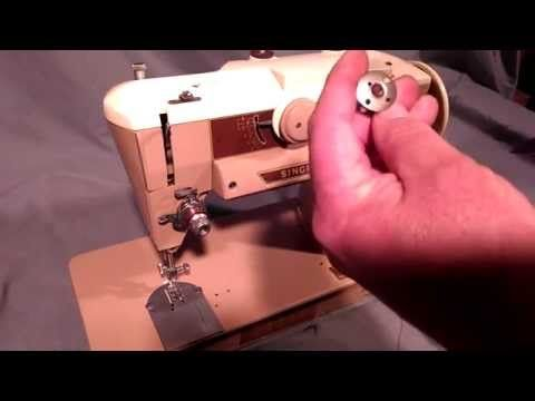 How To Wind Bobbins And Thread Vintage Singer Sewing Machine 40 Beauteous Youtube Singer Sewing Machine Repair