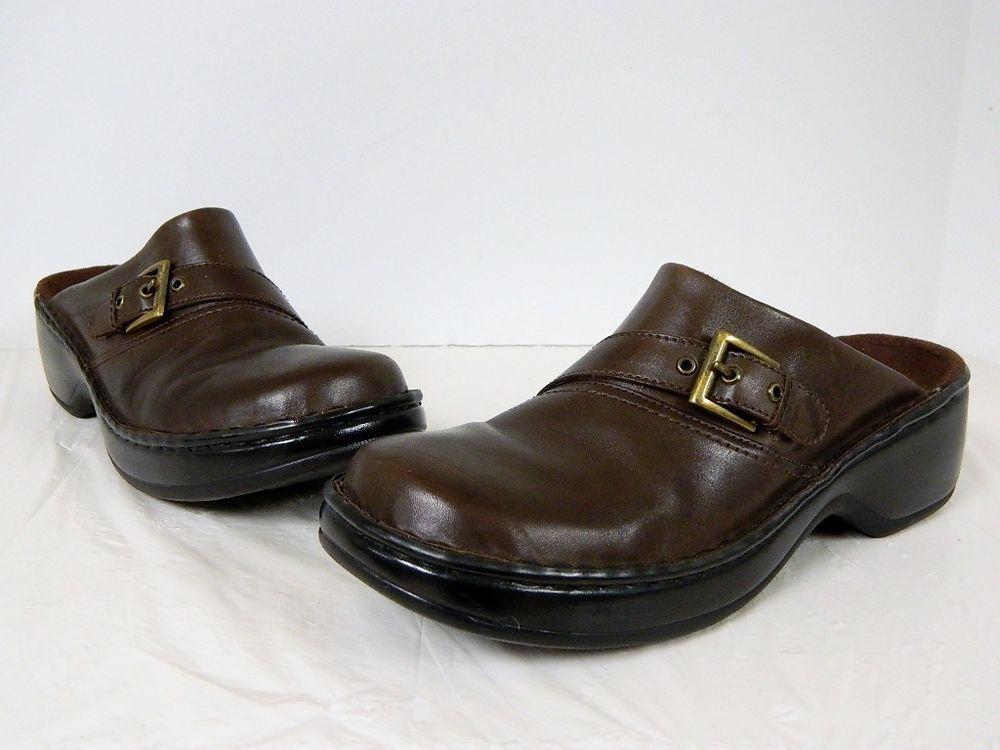 Clarks Brown Leather Slip On Shoe 38026 Size 9M Flats Loafers Slips #Clarks  #Slides