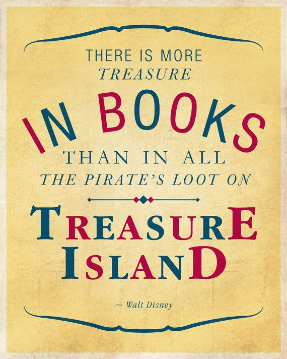 """Walt Disney quote on books: """"There is more treasure in ..."""