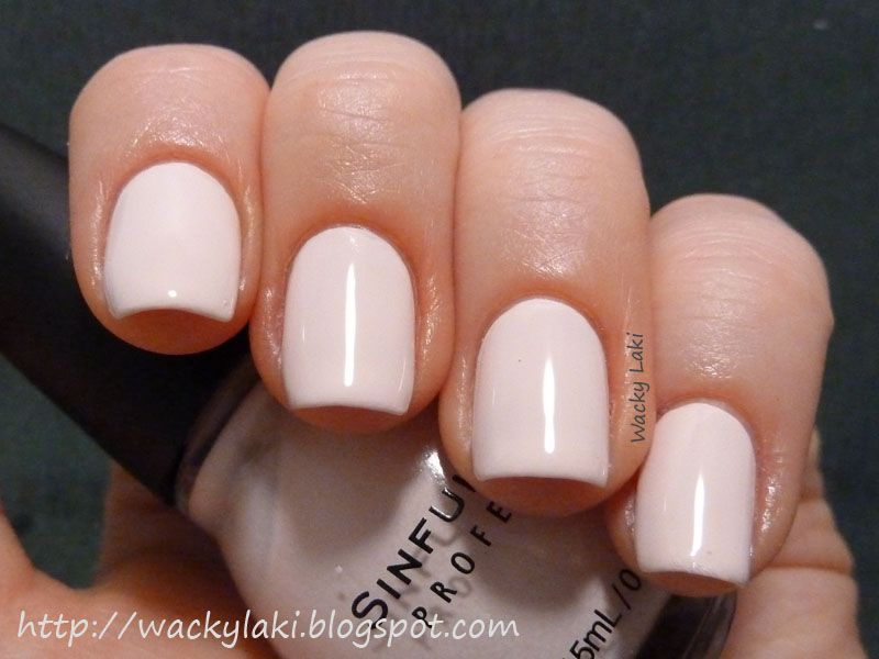 Opaque Pale Pink Nail Polish | Best Nail Designs 2018