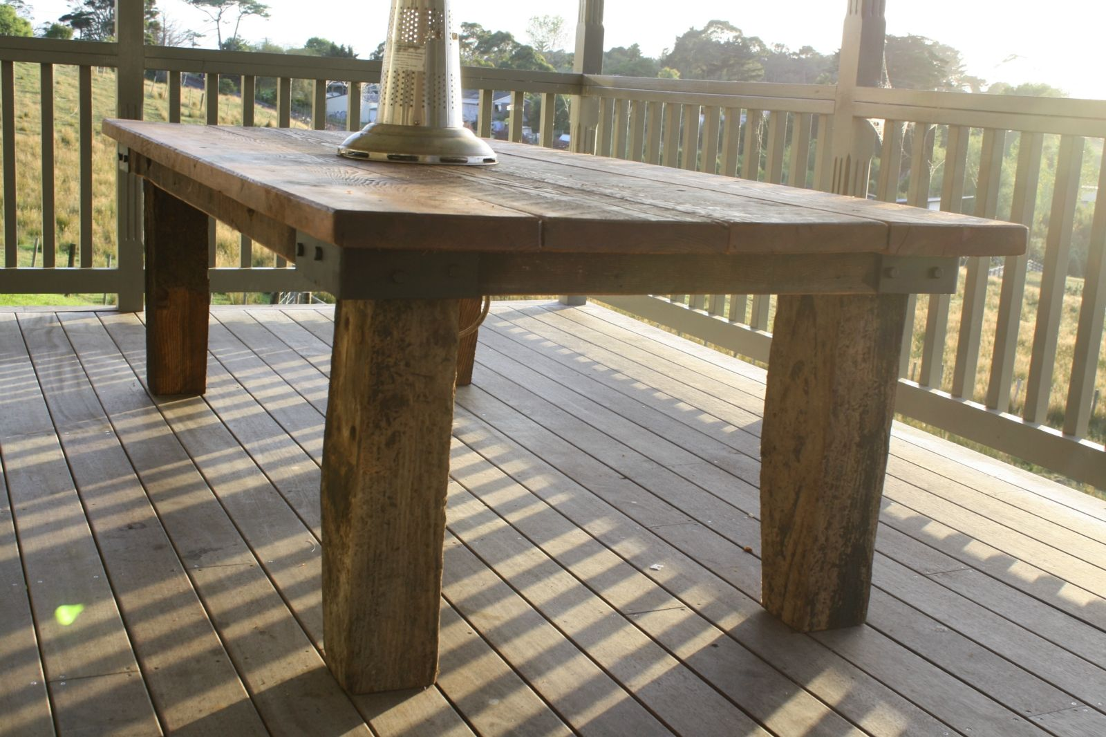 Outdoor Rustic Table | Rustic Outdoor Table