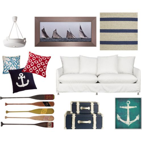 Modern Nautical Living Room