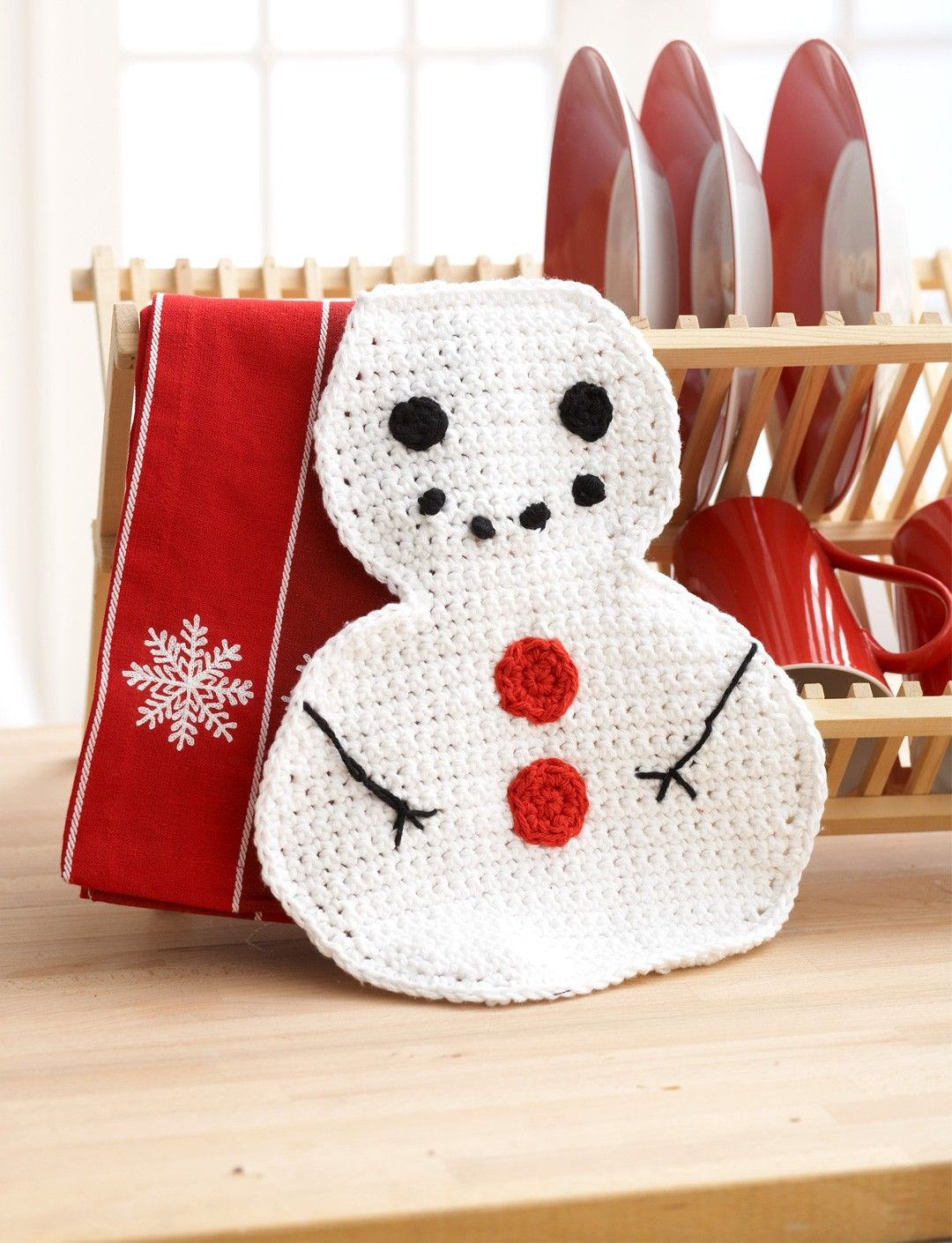 Yarnspirations.com - Lily Snowman Dishcloth - Patterns ...