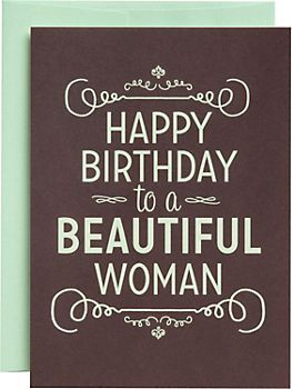 Beautiful Woman Birthday Card With Images Happy Birthday Woman