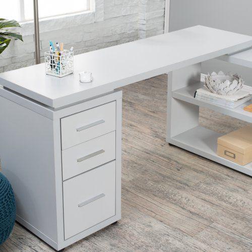 Hudson L-Shaped Desk - Gray - Desks at Hayneedle Office and Work