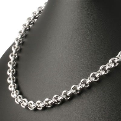 17 Inch .925 Sterling Silver 2.5mm Rolo Chain Necklace With Lobster Clasp