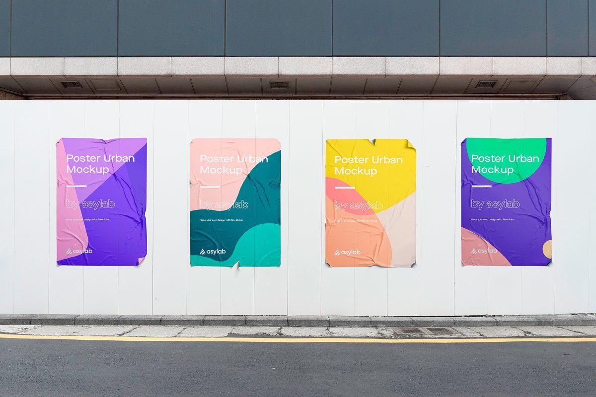 10 Urban Poster Street Mockups Psd Poster Mockup Psd Poster Mockup Mockup Psd