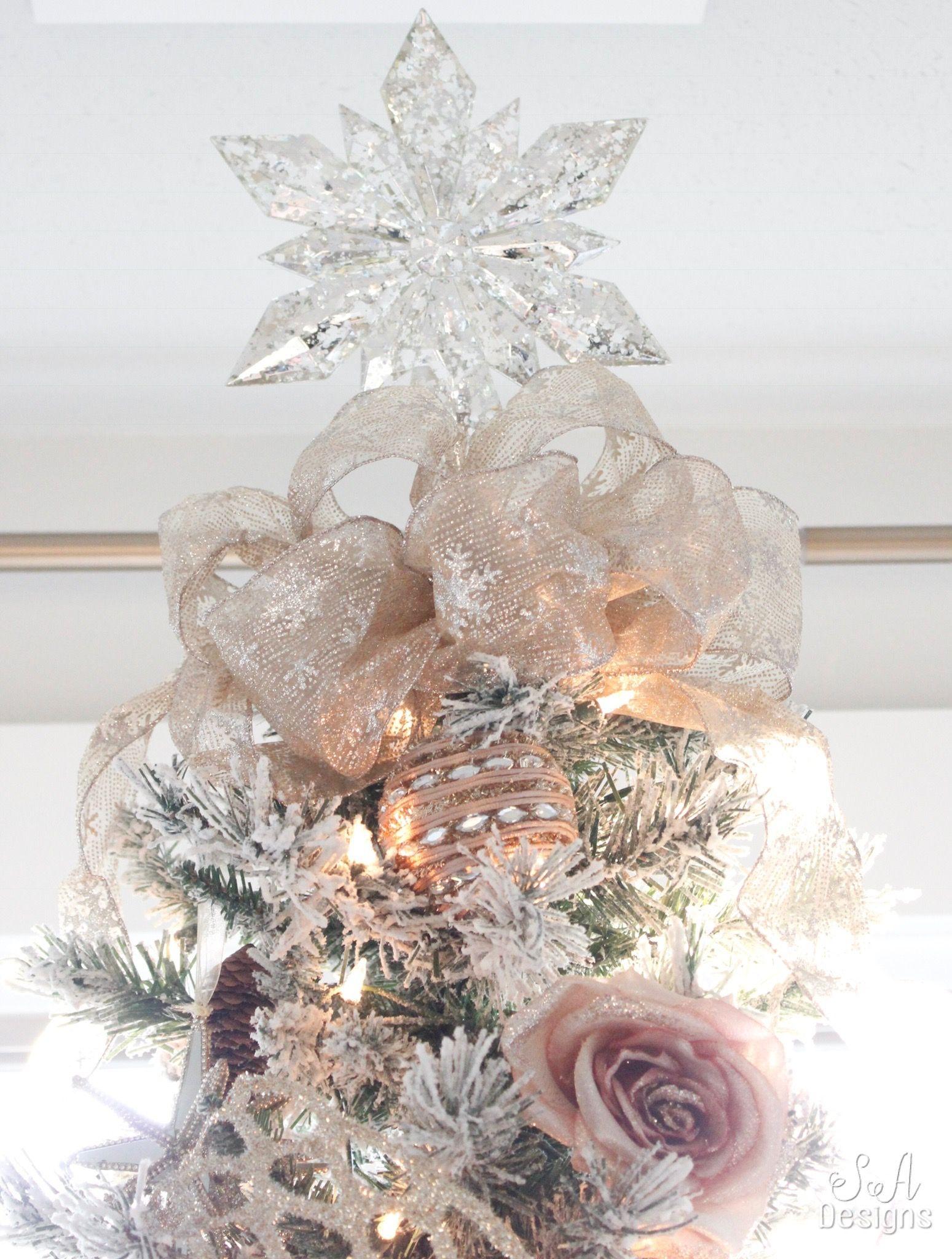 My Blush Pink Flocked Christmas Tree   Pink christmas tree ...