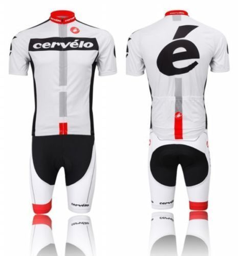 42278e5de White Bike Bicycle Cycling Short Sleeve Jersey Bib Shorts Suit ...