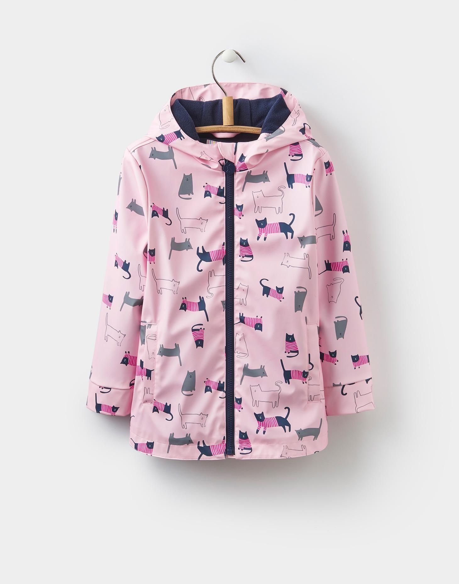 116fe8778 Raindance Rose Pink Cat Waterproof Rubber Coat 1-6yr | Joules US ...