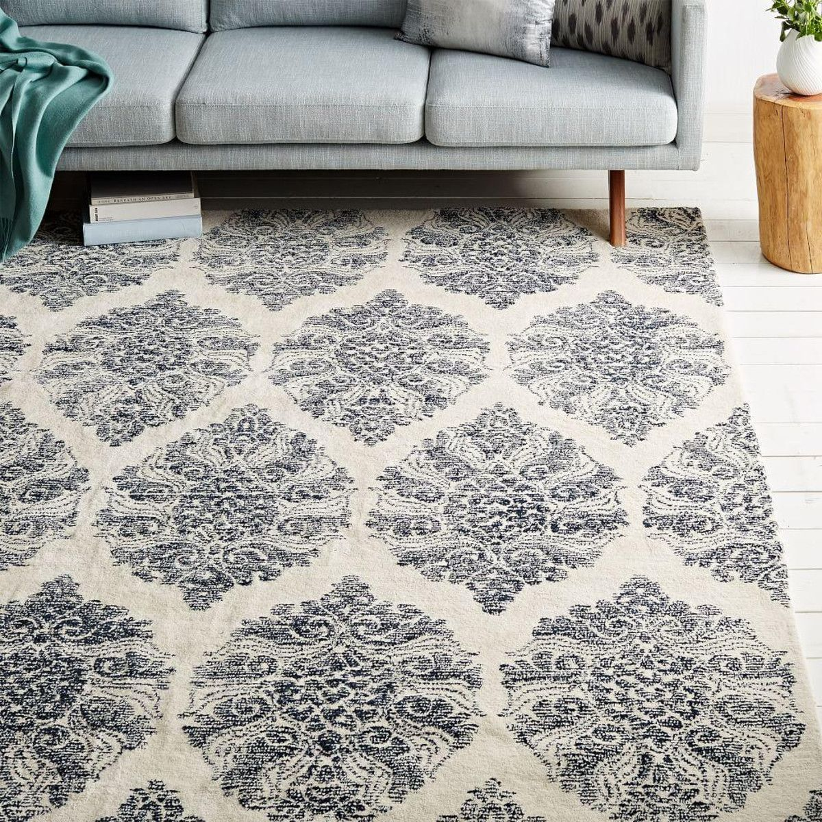 Hand Tufted By Skilled Artisans In India, Our Sarasa Wool Rug Pairs Modern  Durability With