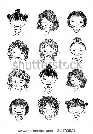 Girl Doodle Stock Photos, Images, & Pictures | Shutterstock