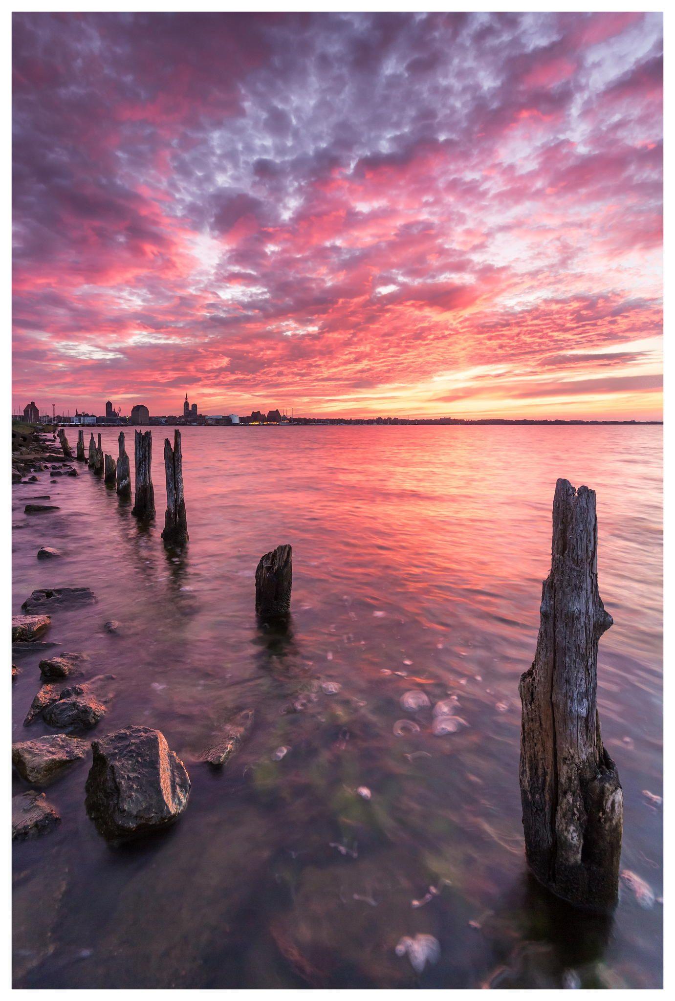 Sunset over Stralsund / Germany by Kristian Goretzki on 500px