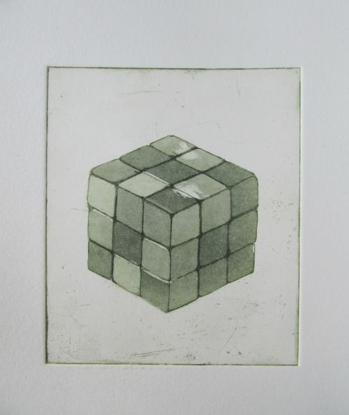 Cube etching and aquatint