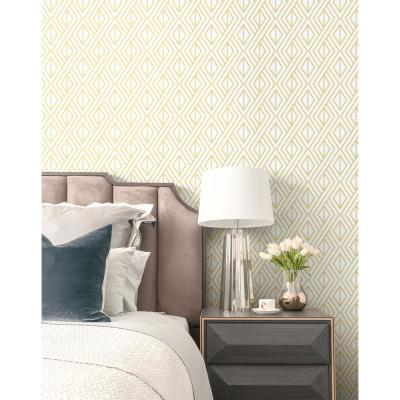Gold Diamond Geometric Peel And Stick Wallpaper Peel And Stick Wallpaper Home Decor Decor