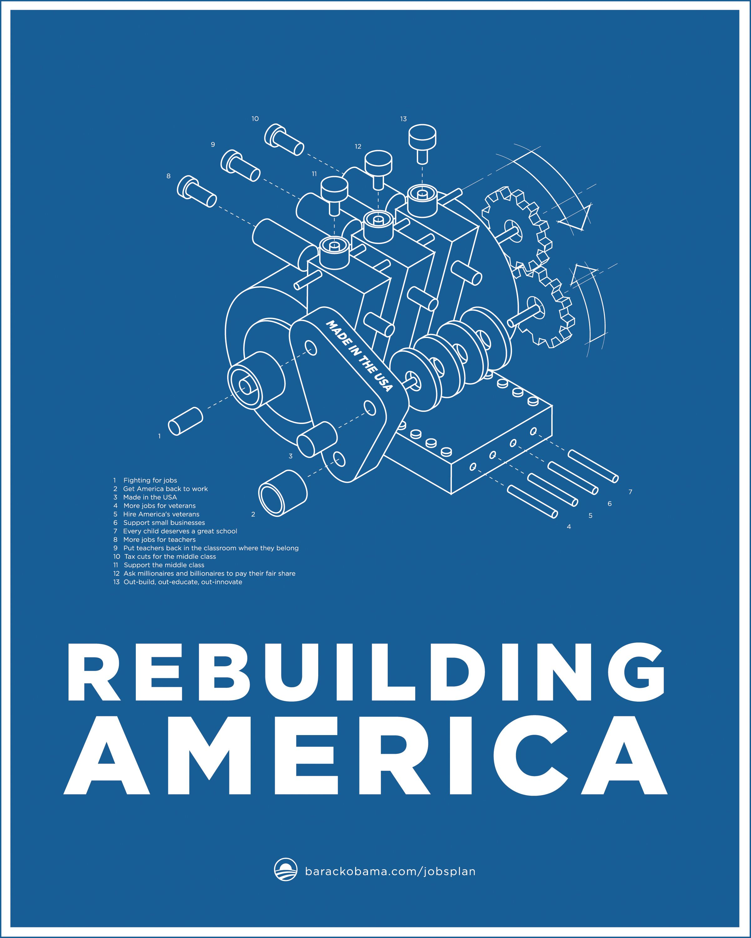Obama jobs act blueprint poster series motor by aram asarian at obama jobs act blueprint poster series motor by aram asarian at aram designs malvernweather Image collections