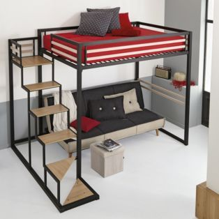 mezzanine 140x200 home mezzanines et lits superpos s les lits chambre par pi ce d coration. Black Bedroom Furniture Sets. Home Design Ideas