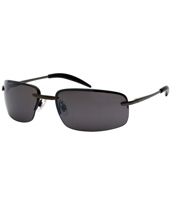 Men's Metal Semi-Rimless Sports Sunglasses 25124S