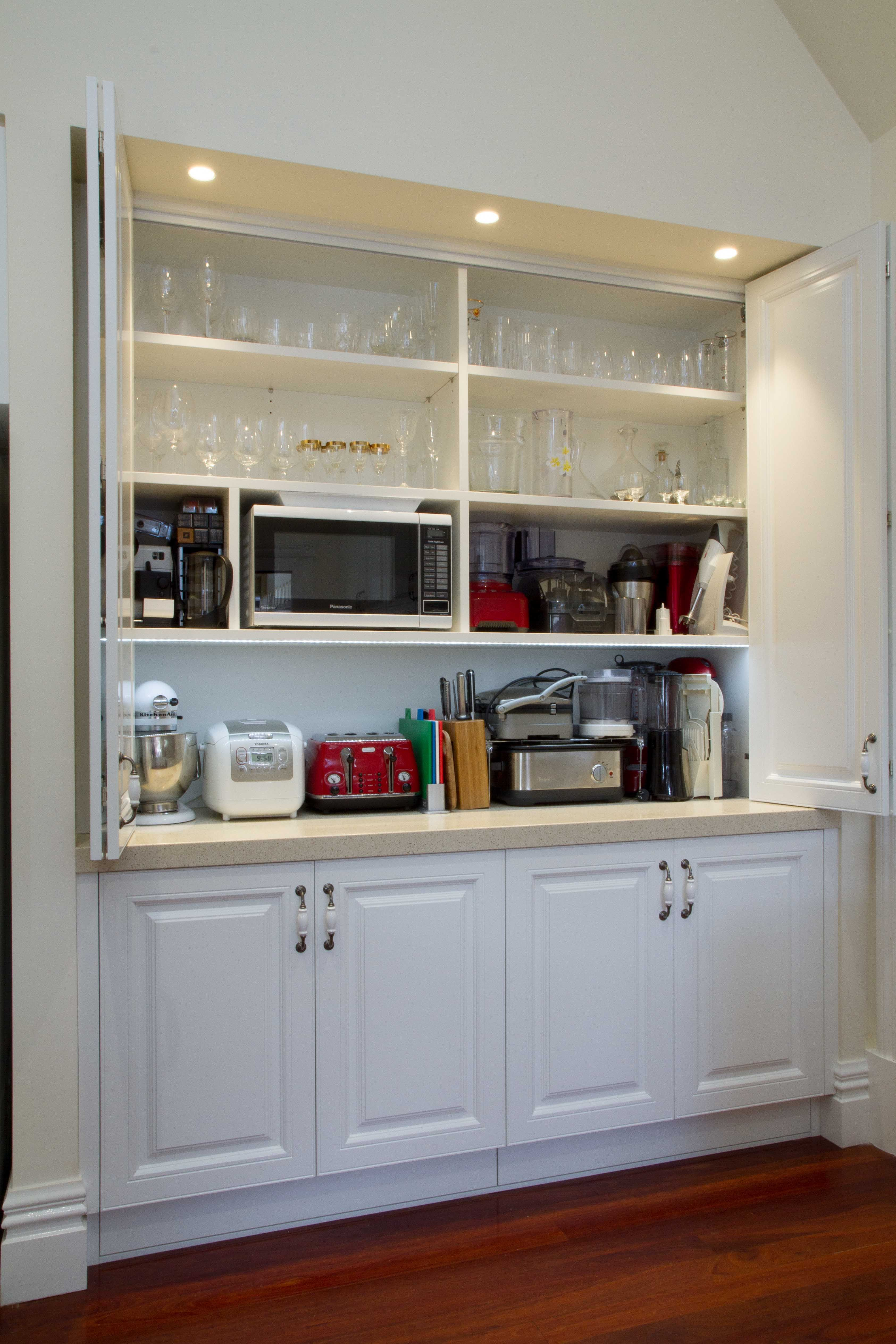 Traditional kitchen. Appliance pantry. www ...