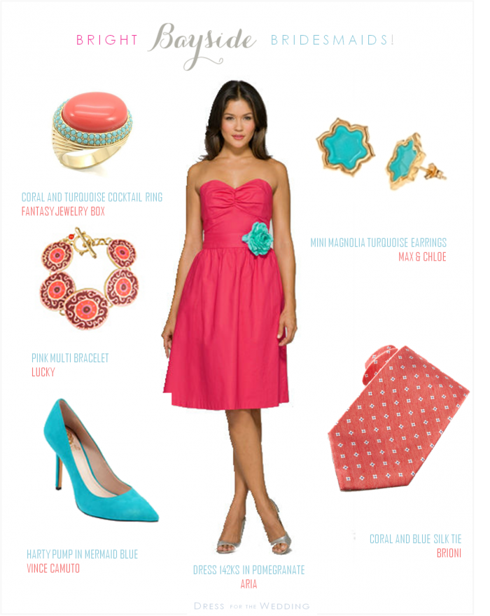 Coral And Turquoise Wedding Turquoise Bridesmaid Dresses Coral