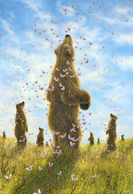 Art Of Robert Bissell The Enchantment Bear Art Illustration Art