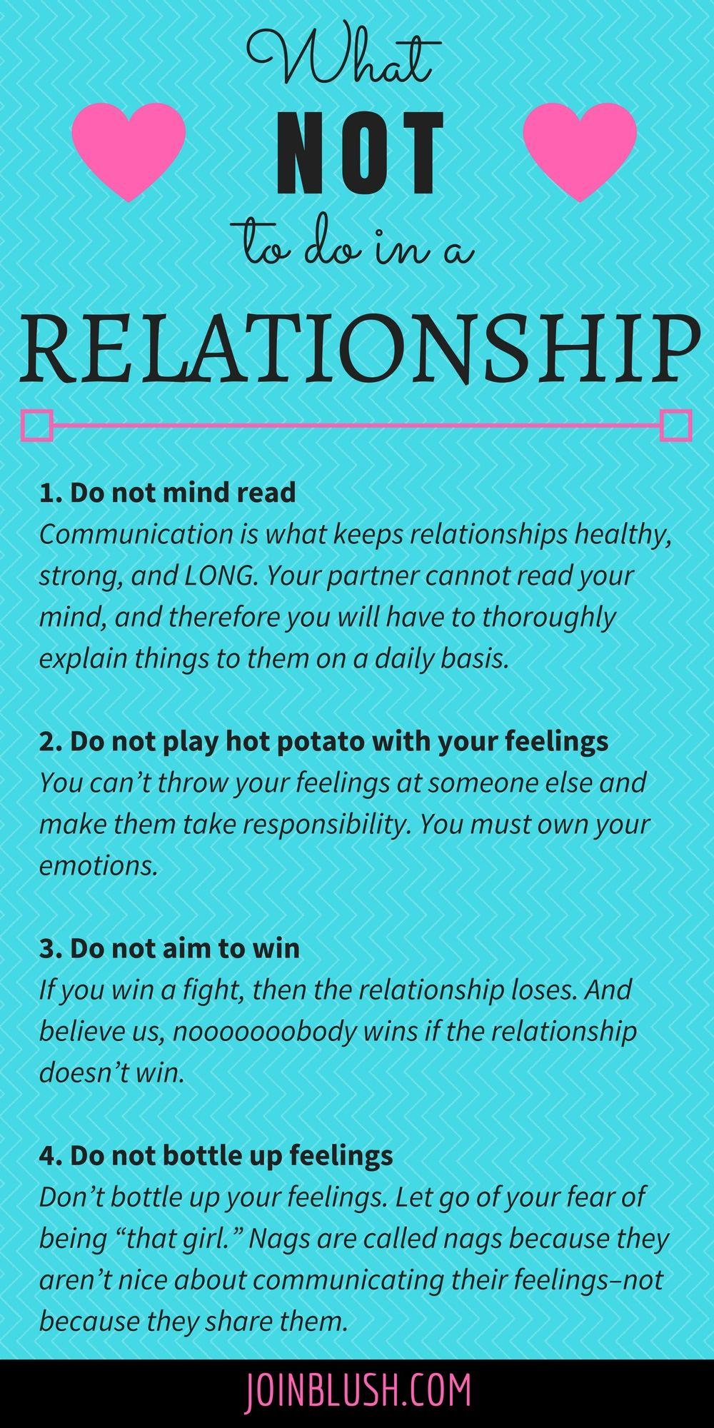 what not to do in a relationship people relationships