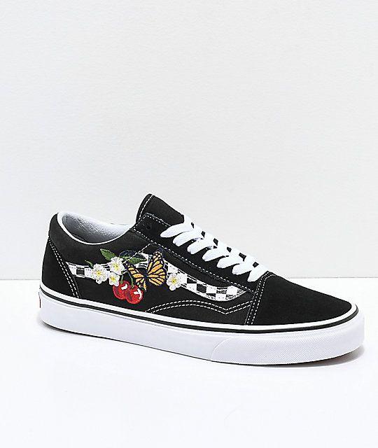 Checkered Floral Skate Shoes | Zumiez