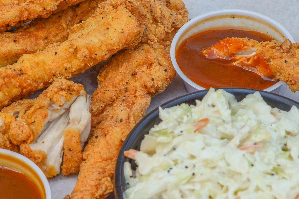 Premium Chicken Tenders with Cole Slaw Premium chicken