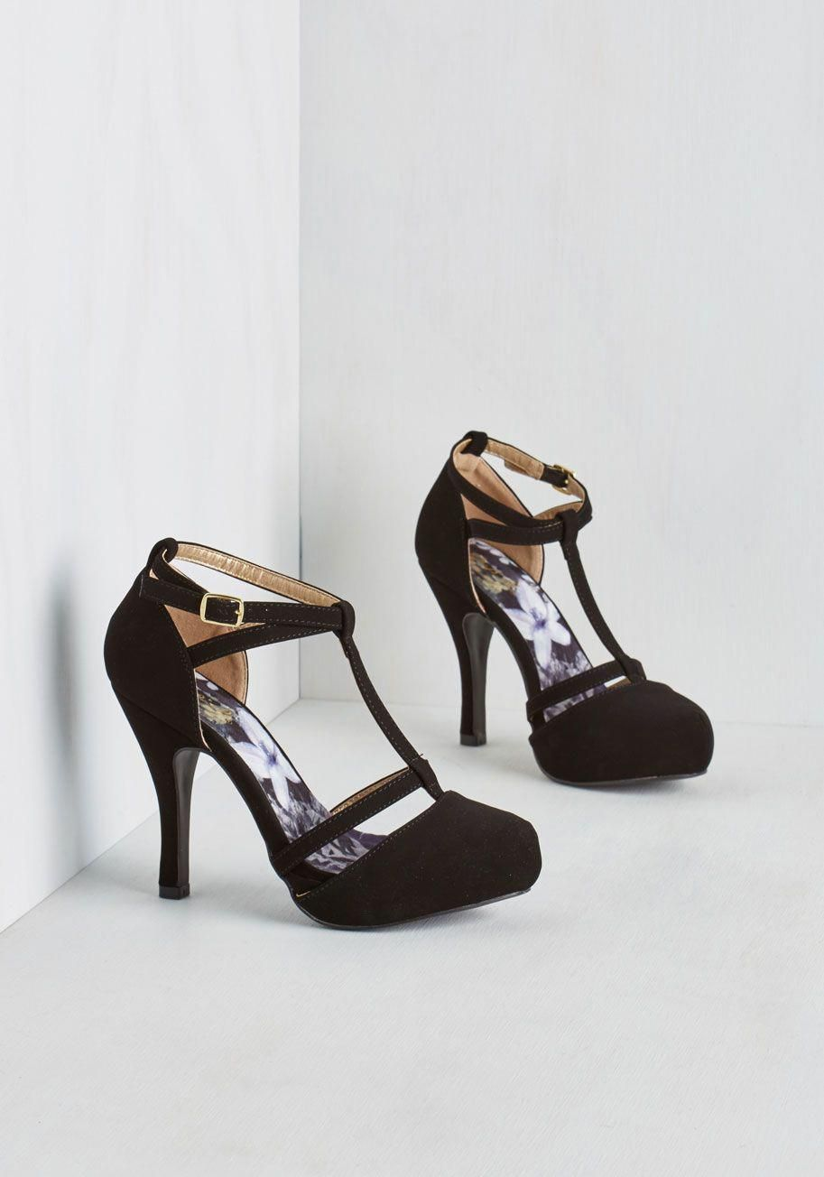 04c7d600922 Snappy and Strappy Heel in Ink. With your sharp fashion sense