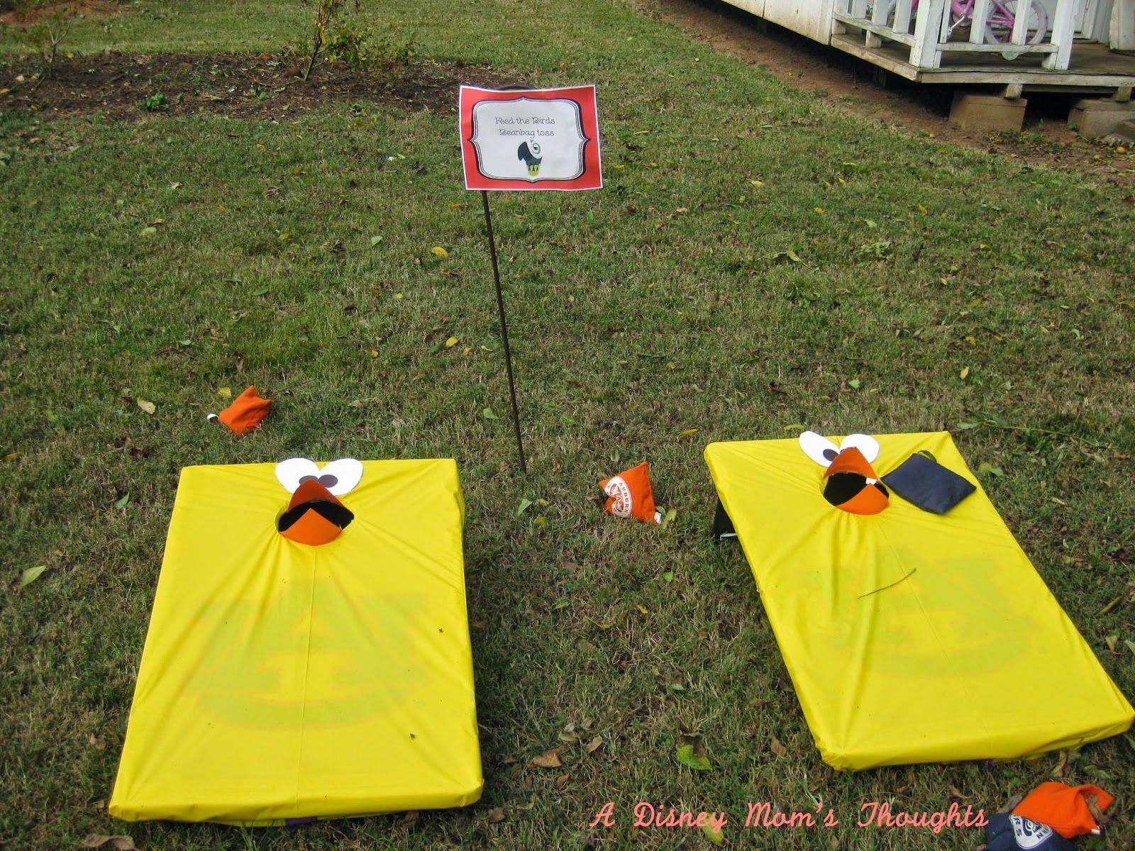 Feed The Birds Beanbag Toss Mary Poppins Birthday Party Games