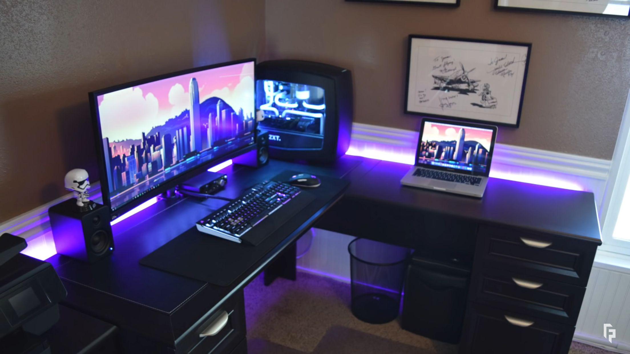 Gaming Desks  Gaming Desks  Computer desk setup Game